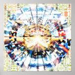 Mandala 1,3 del mosaico poster