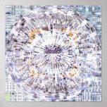 Mandala 1,5 del mosaico posters