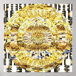 Mandala 1,7 del mosaico póster