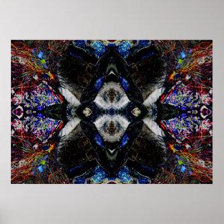 """""""Mandala 1"""" del alcohol del lobo arte abstracto de Póster"""