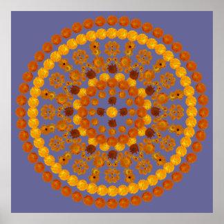 Mandala 1 del Calendula Posters
