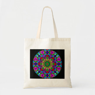 "Mandala #1 la ""bolsa de asas "" del vitral bolsa tela barata"