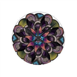 Mandala #1 round clock
