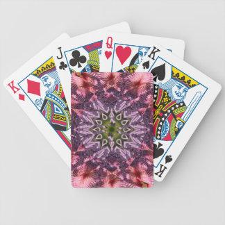 Mandala 2015 de la torsión de la flor baraja de cartas bicycle
