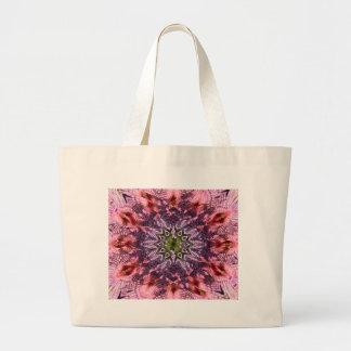 Mandala 2015 de la torsión de la flor bolsa de tela grande