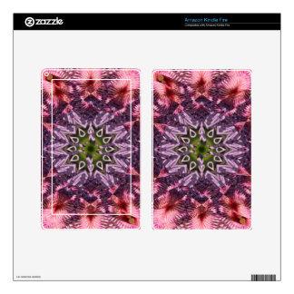 Mandala 2015 de la torsión de la flor kindle fire skins