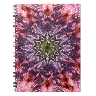 Mandala 2015 de la torsión de la flor notebook