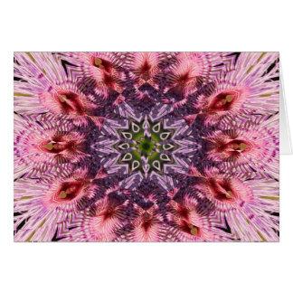 Mandala 2015 de la torsión de la flor tarjeta de felicitación