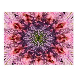Mandala 2015 de la torsión de la flor tarjeta postal