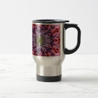 Mandala 2015 de la torsión de la flor taza de viaje