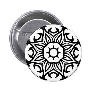 Mandala 26 flame flower button