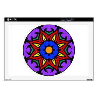 "Mandala 26 flame flower color version 17"" laptop skin"