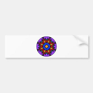 Mandala 26 flame flower color version bumper sticker