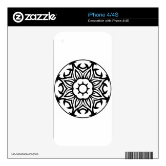 Mandala 26 flame flower skins for iPhone 4S