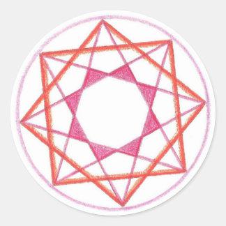 Mandala #2 de la maestría pegatina redonda