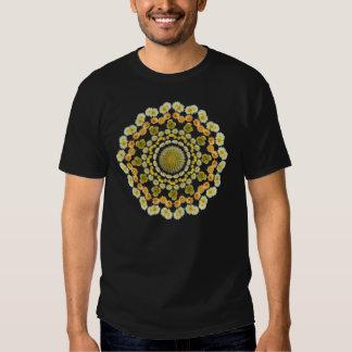 Mandala 2 del cactus de barril como camiseta remeras