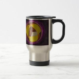 Mandala 2 Round Abstract Painting Travel Mug