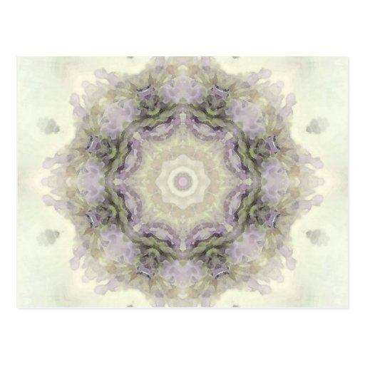 Mandala 32 de la flor tarjeta postal
