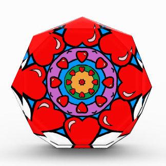 Mandala 36 hearts color version award