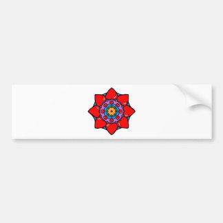 Mandala 36 hearts color version bumper sticker