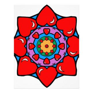 Mandala 36 hearts color version letterhead