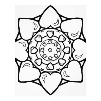 Mandala 36 hearts letterhead