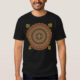 Mandala 3 de la flor del cactus de barril como remera