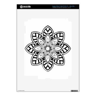 Mandala 42 chevron flower decals for iPad 3