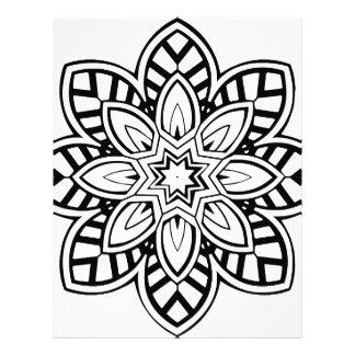 Mandala 42 chevron flower letterhead