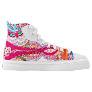 Mandala 4 printed shoes