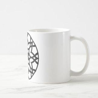 Mandala 50 stainglass tulips coffee mug
