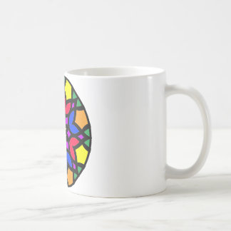 Mandala 50 stainglass tulips color version coffee mug