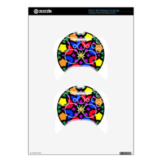 Mandala 50 stainglass tulips color version xbox 360 controller decal