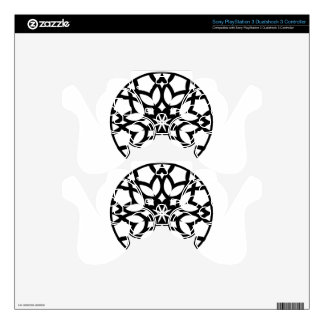 Mandala 50 stainglass tulips decal for PS3 controller