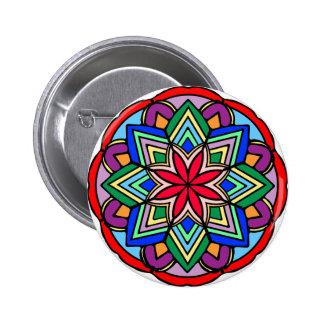 Mandala 52 star.flower color version button