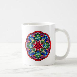 Mandala 52 star.flower color version coffee mug