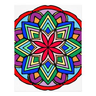 Mandala 52 star.flower color version letterhead
