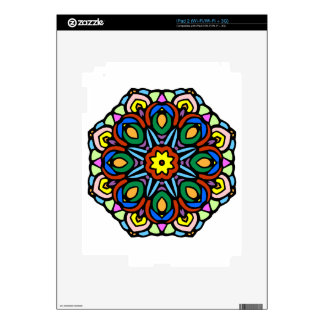 Mandala 6 candle flower color version iPad 2 skins