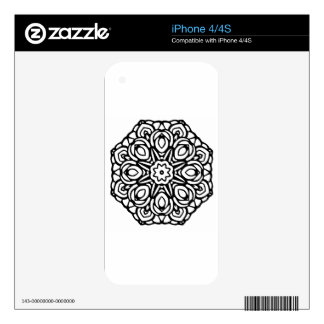 Mandala 6 candle flower decals for the iPhone 4S