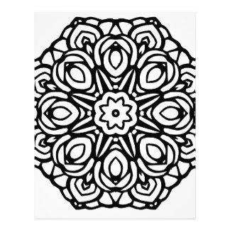 Mandala 6 candle flower letterhead