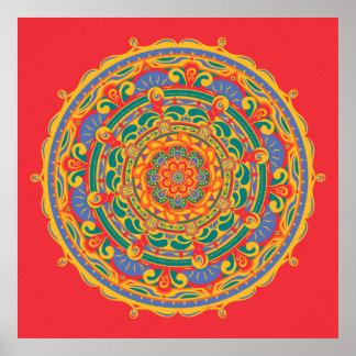 Mandala #6 - Poster