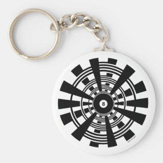 Mandala - 8 Ball Keychain