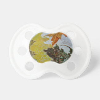 Mandala 9 Found Abstract In Fall Colors Pacifier
