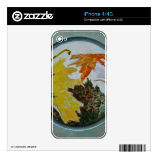 Mandala 9 Found Abstract In Fall Colors Skin For iPhone 4S