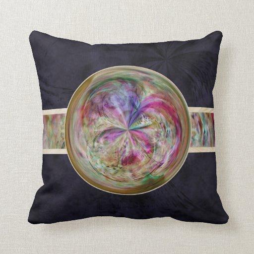 Mandala abstracta de la burbuja con la cinta cojin