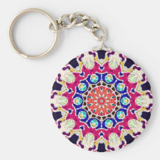 Mandala abstracta multicolora del caleidoscopio llaveros personalizados