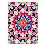 Mandala abstracta multicolora del caleidoscopio plantillas de tarjeta de negocio