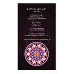 Mandala abstracta multicolora del caleidoscopio tarjetas de visita