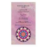 Mandala abstracta multicolora del caleidoscopio plantillas de tarjetas personales