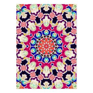 Mandala abstracta multicolora del caleidoscopio tarjetas de visita grandes